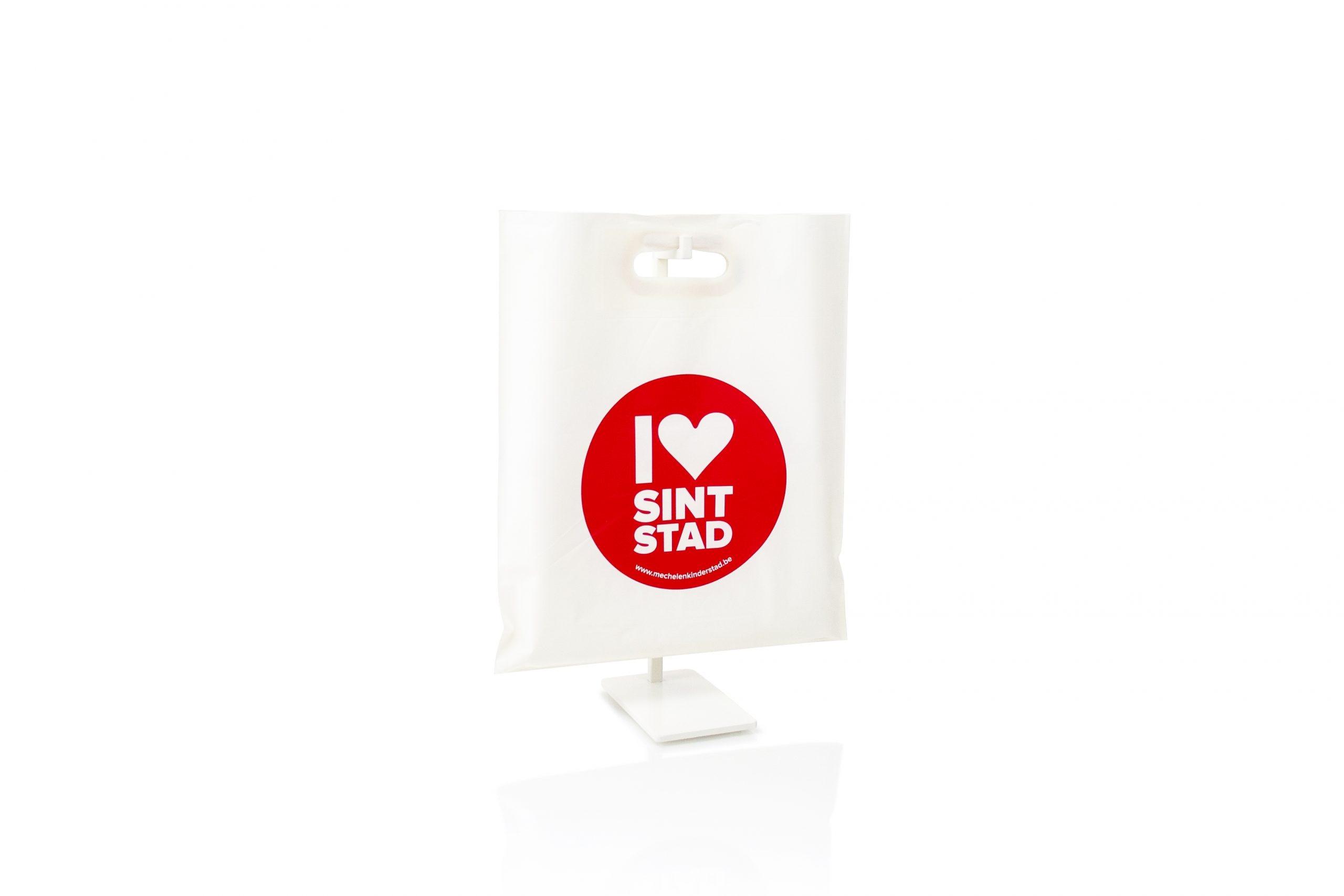 Gepersonaliseerde afbreekbare bio plastic zakken met logo