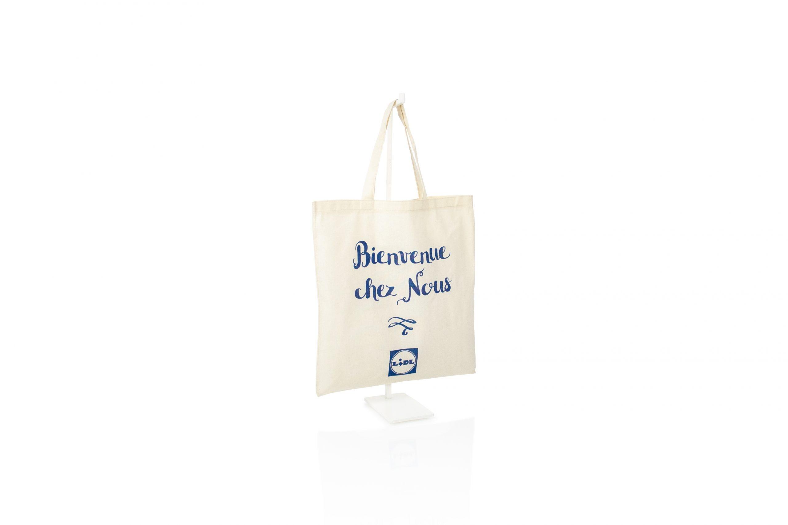 Tote bag katoen OEKOTEX gecertificeerd made in EU geschikt voor retail
