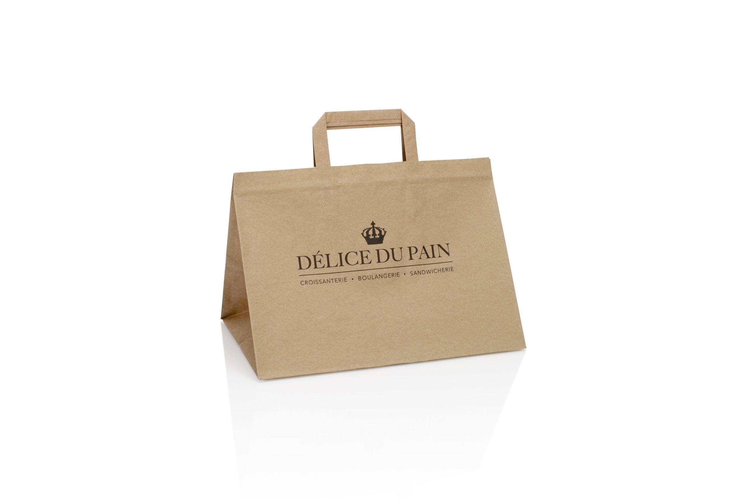 Take away zakken voor brood banket en patisserie gepersonaliseerd met logo of bedrijfsnaam