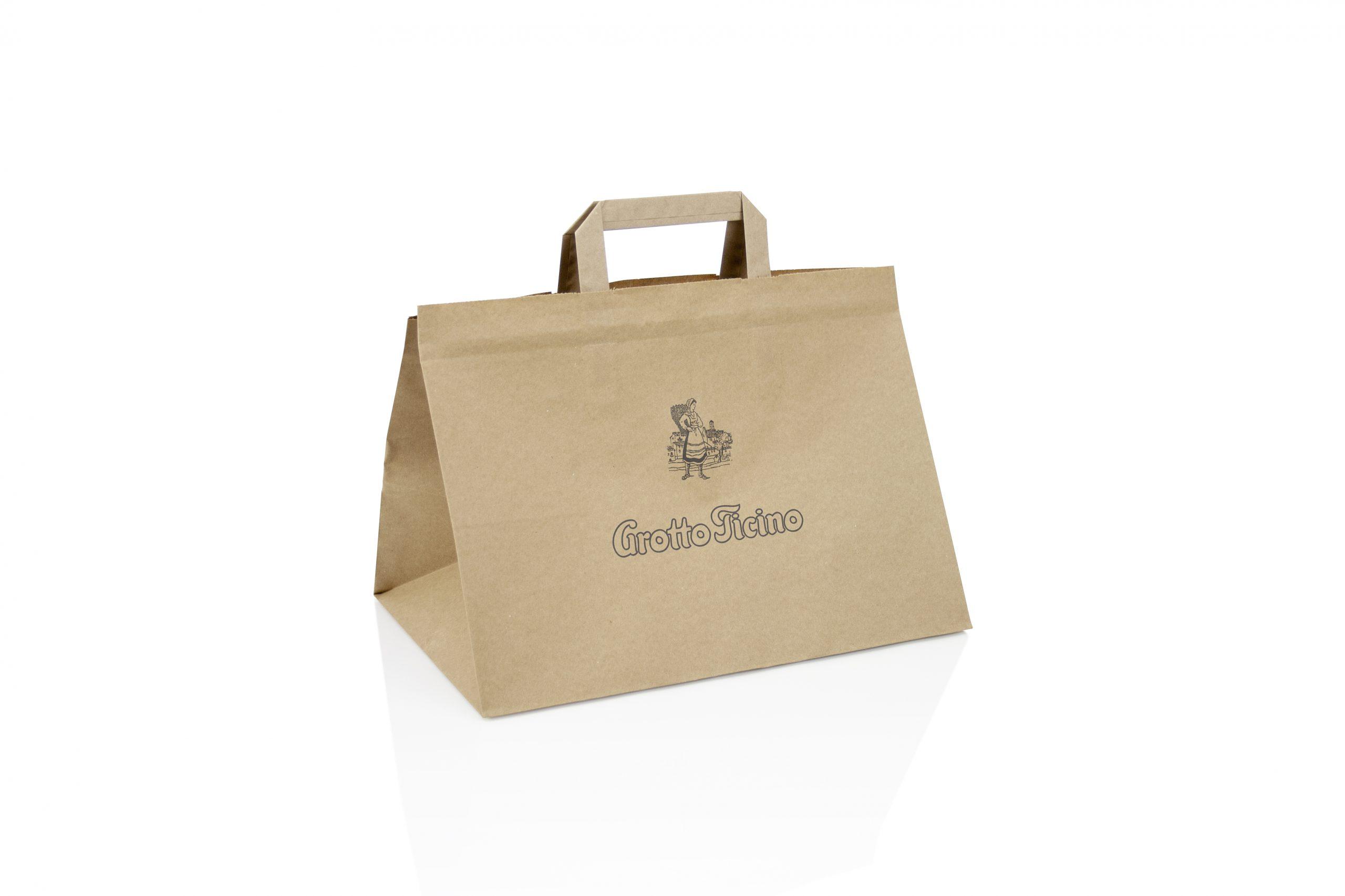 Take away bags met brede bodem voor voeding