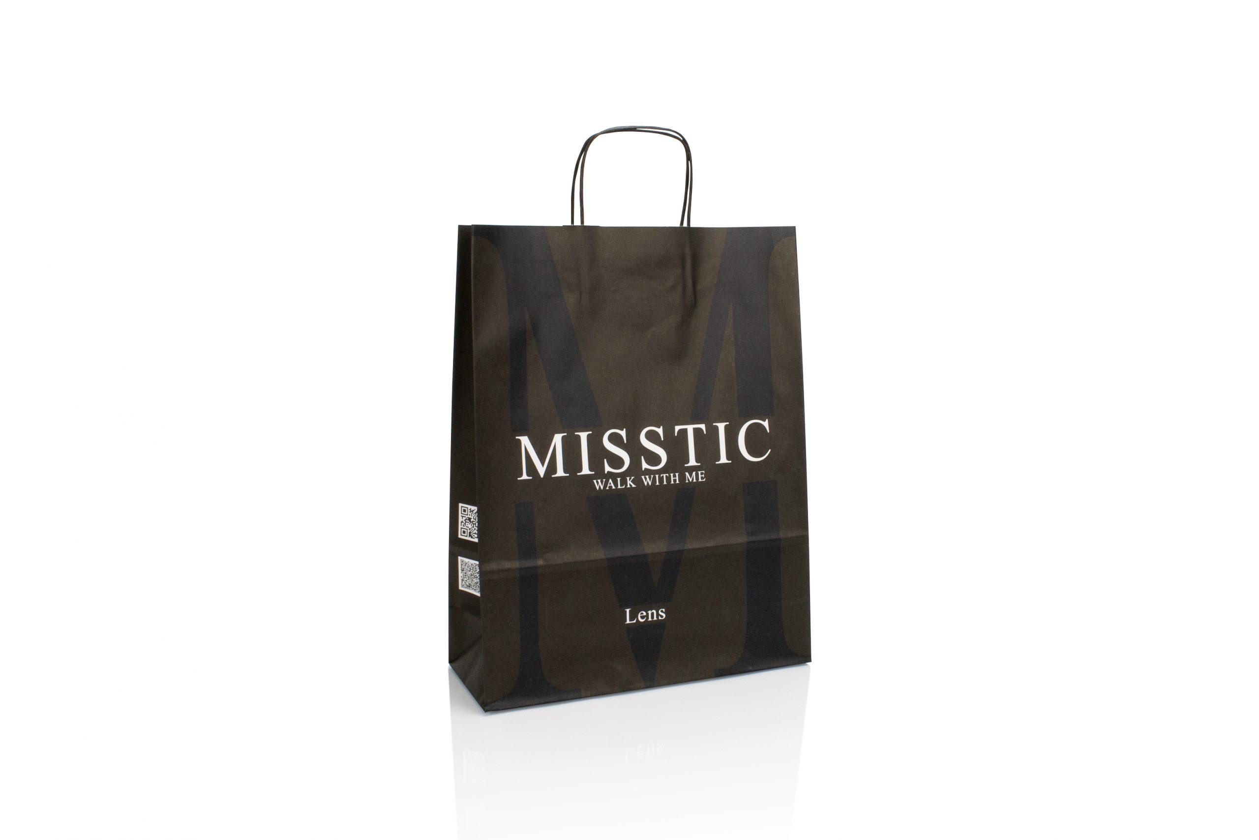 Papieren draagtas personaliseren met logo voor kledingwinkel