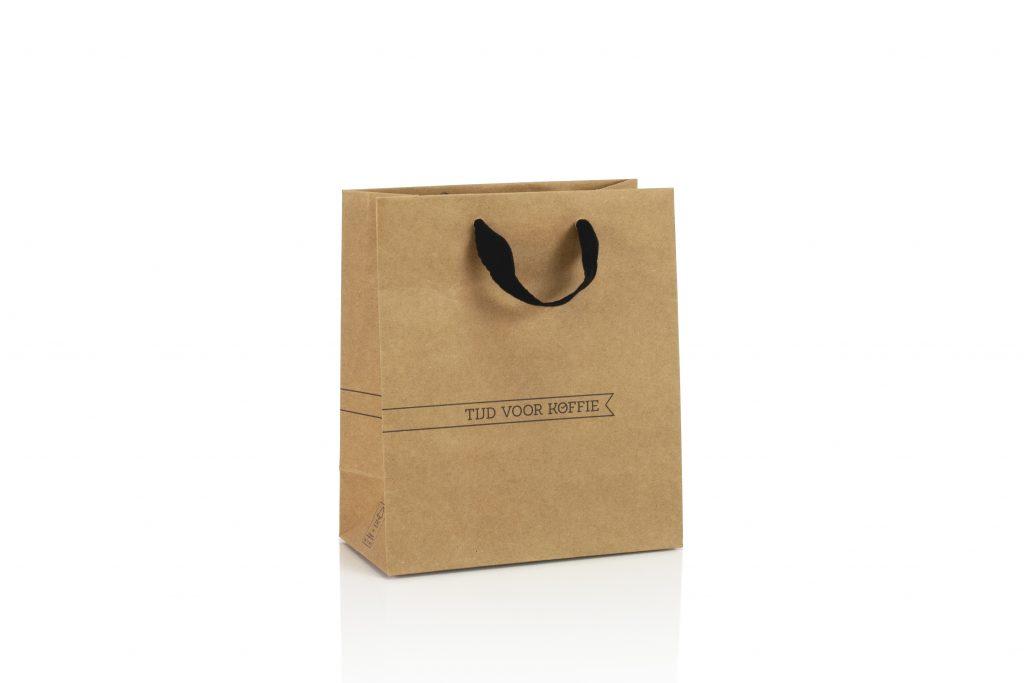 Kraft papier zakken bedrukt met logo