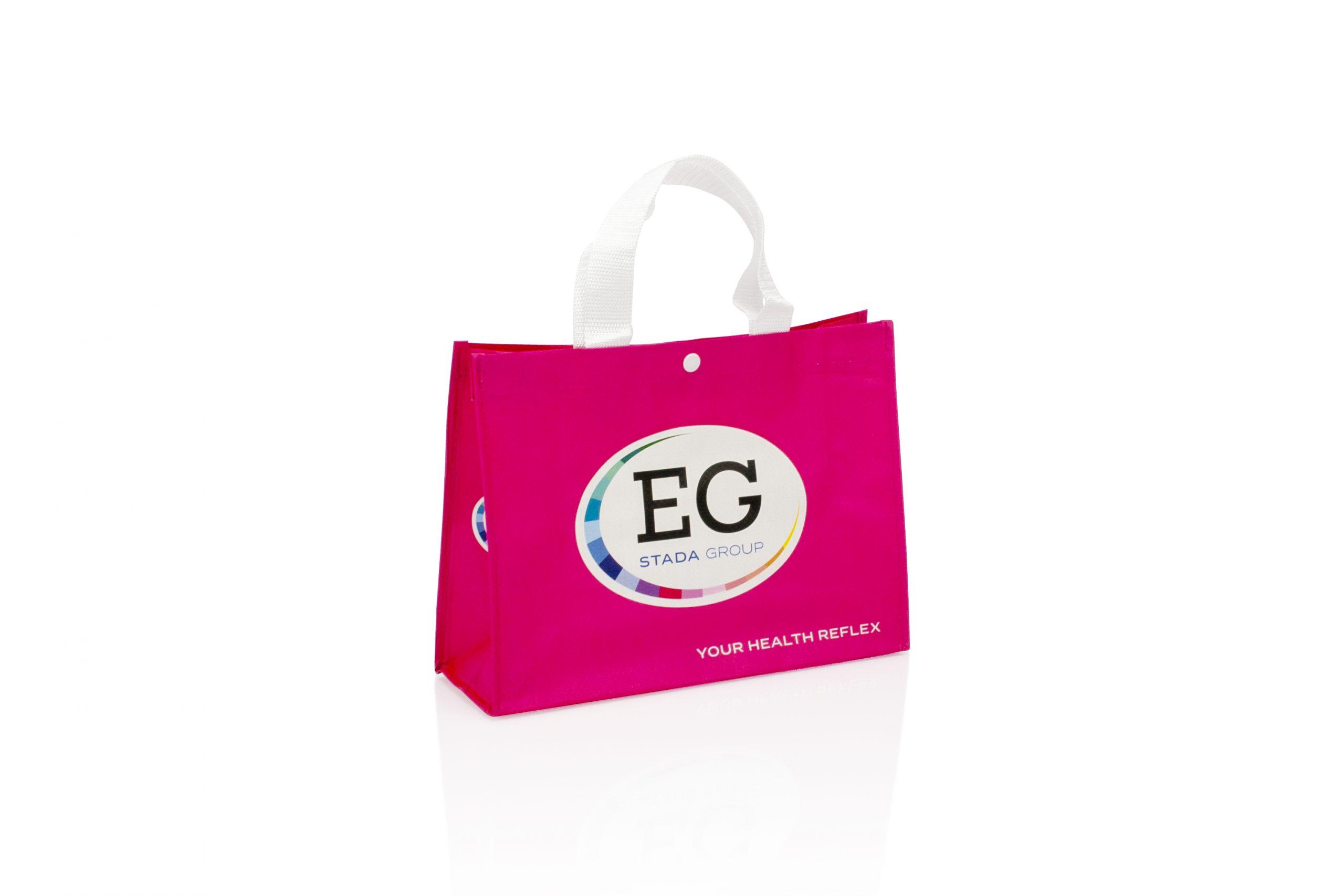 Herbruikbare shopper woven met logo