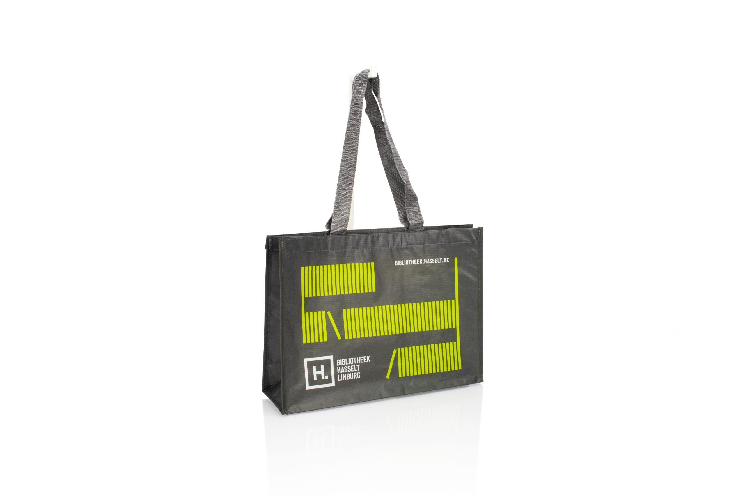 Herbruikbare draagtas RPET personaliseren met logo