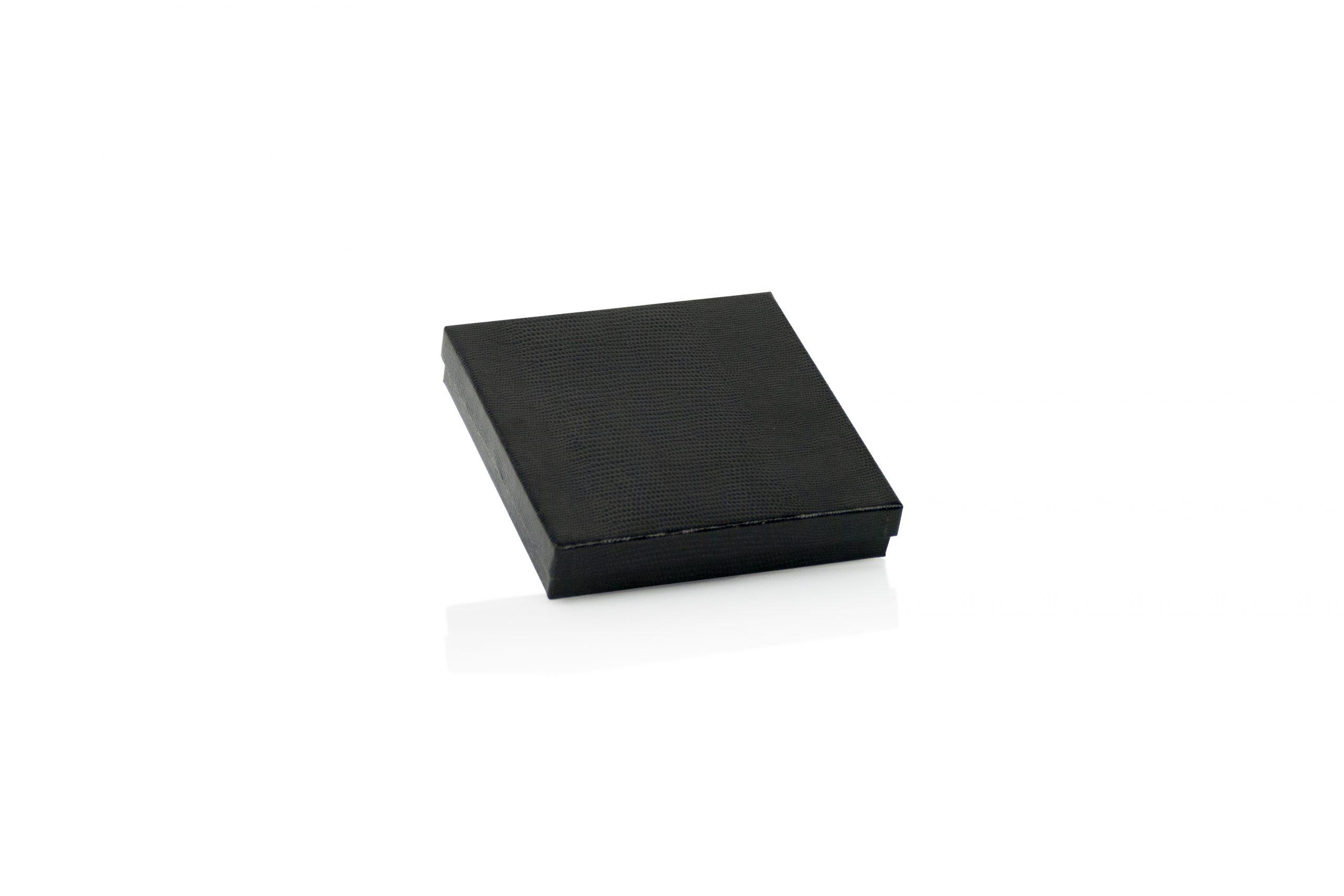 Luxe geschenkdoos lederlook zwart