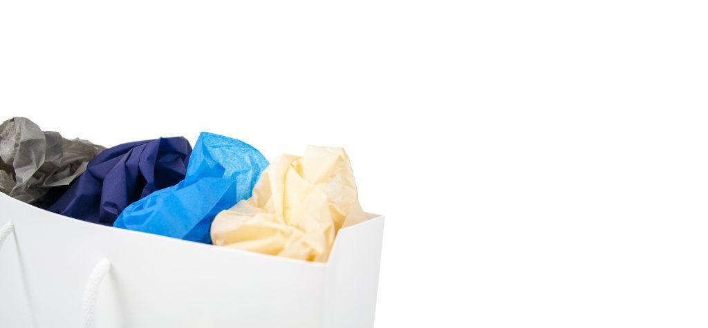 Zijdepapier bedrukken met naam of logo ABC Pack Solutions leverancier herbruikbare verpakkingen