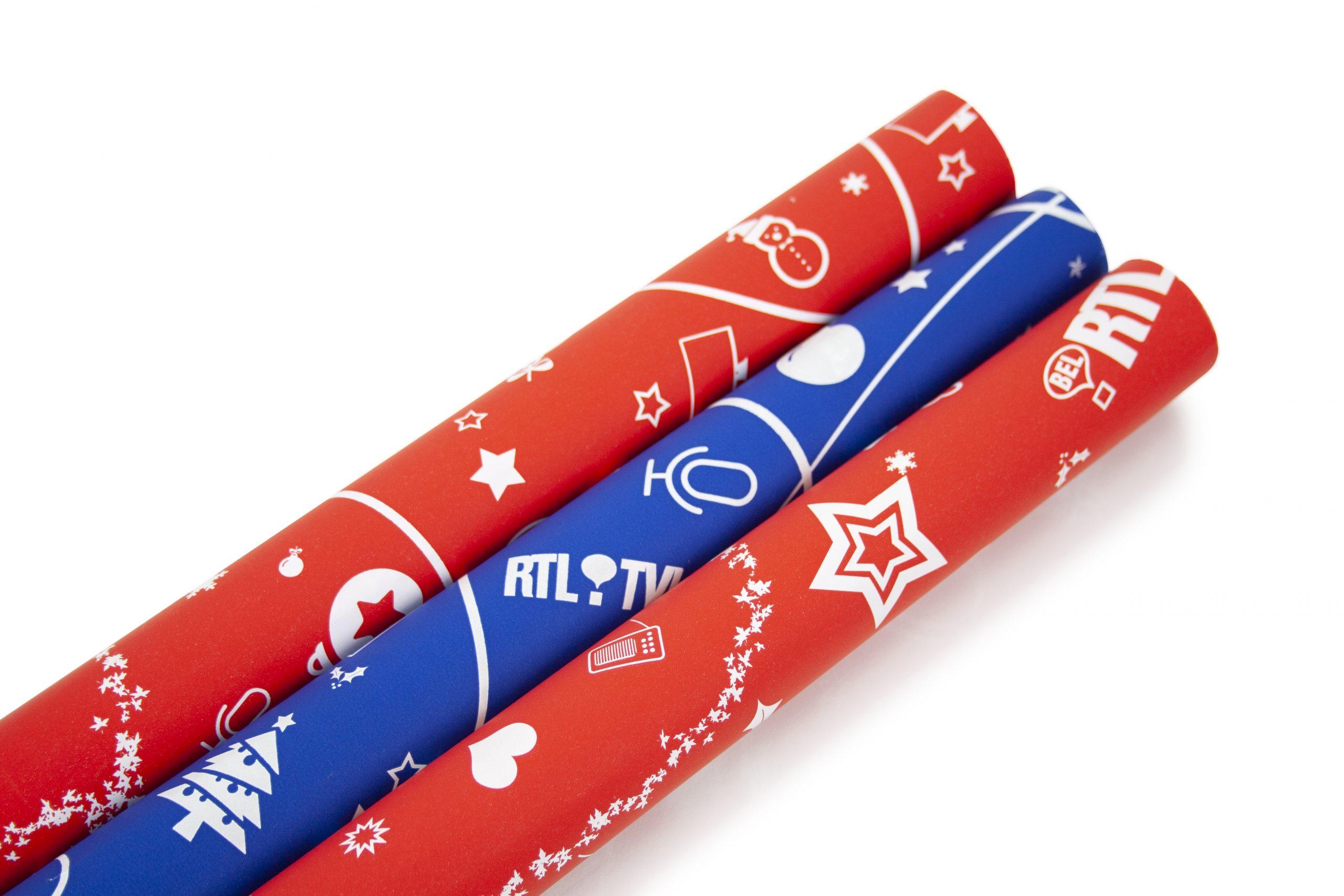 Inpakpapier feestdagen bedrukt met logo