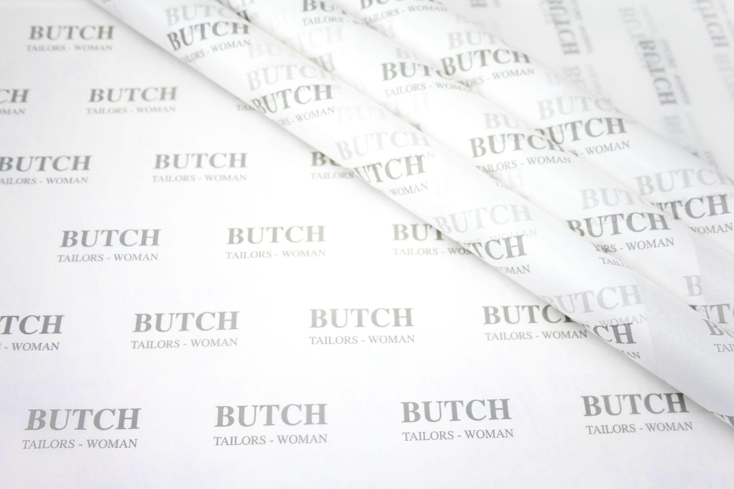 Zijdepapier bedrukt met merknaam retail