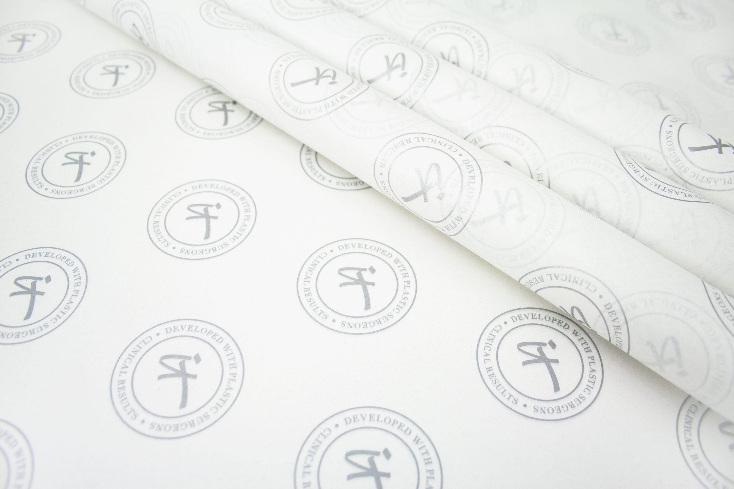 Zijdepapier gepersonaliseerd met logo