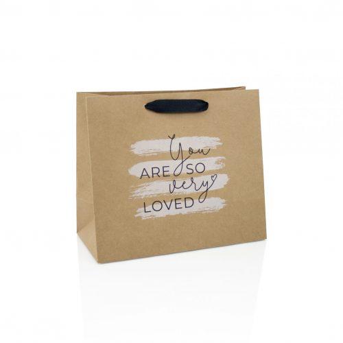 Brown kraft paper bags printed with logo
